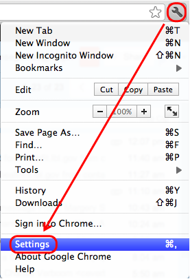 Adding Favourites from Finder to Google Chrome in Mac
