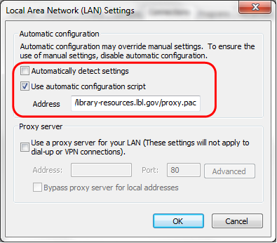 detect proxy settings pac