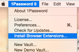 1Password 6 Web Browser Extensions for Mac - Cyber Security Website